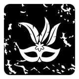 Carnival mask icon, grunge style. Carnival mask icon. Grunge illustration of carnival mask icon for web royalty free stock images