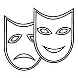 Carnival mask icon, outline style Royalty Free Stock Photography