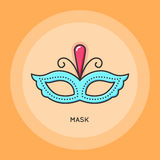 Carnival mask icon Royalty Free Stock Image