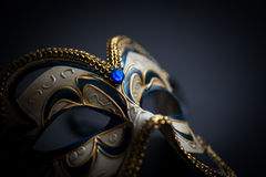 Carnival mask. Isolated on black stock images