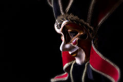 Carnival Mask Isolated on black Stock Image