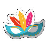 Carnival mask isolated icon Royalty Free Stock Photo