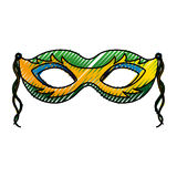 Carnival mask isolated icon Royalty Free Stock Photography