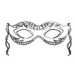Carnival mask isolated icon Stock Images