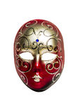 Carnival mask isolated. Carnival mask made of porcelain ceramic isolated over white background royalty free stock image