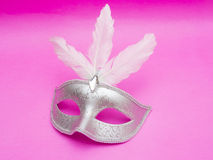 Carnival mask isolated on pink background Royalty Free Stock Photography