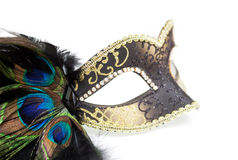 Carnival mask isolated on white Royalty Free Stock Photo