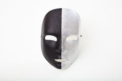 Carnival mask isolated on white background. Black and silver carnival mask isolated on white background Royalty Free Stock Images