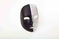 Carnival mask isolated on white background. Black and silver carnival mask isolated on white background Stock Photos