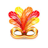 Carnival mask isolated on white vector. Carnival mask isolated on white photo-realistic vector illustration Stock Photos