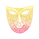 Carnival mask, mask stylization Royalty Free Stock Images