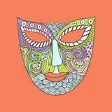 Carnival mask, mask stylization Stock Photos
