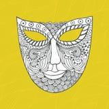 Carnival mask, mask stylization Royalty Free Stock Photos