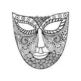 Carnival mask, mask stylization Stock Images
