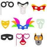 Carnival mask. Masks for carnival, masquerade masks, a set of carnival accessories. Design,  illustration Stock Image