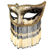 Carnival mask. Carnival masquerade mask Christmas black gold white background silver New year stock photography