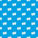 Carnival mask pattern seamless blue Stock Images