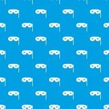 Carnival mask pattern seamless blue Stock Photography