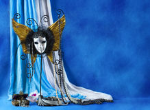 carnival mask and pearls Royalty Free Stock Images