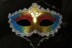 Carnival mask. Photographed on a black background Stock Photo