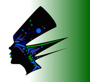 Carnival mask profile Royalty Free Stock Photography