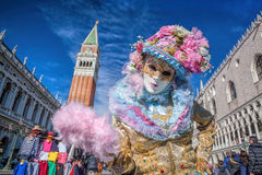 Carnival mask on San Marco square in Venice, Italy Stock Image