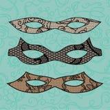 Carnival mask set Stock Images