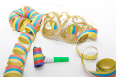 Carnival Mask and streamers Stock Photography