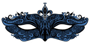Carnival mask with swirls and lace. vector Stock Image