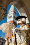 Carnival Mask in Venice Stock Images
