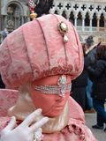 A carnival mask in Venice. A carnival mask (woman) in Venice Royalty Free Stock Photo
