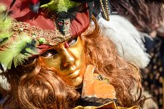 Carnival mask in Venice. The Carnival of Venice is a annual festival held in Venice, Italy. The festival is word famous for its el. Aborate masks royalty free stock images