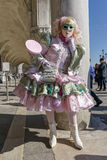 Carnival mask in Venice. Female mask posing at Venice Carnival, Italy Royalty Free Stock Images
