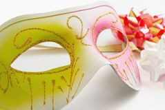Carnival mask on a white background Royalty Free Stock Photography