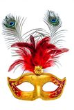 Carnival mask on a white background. Colorful carnival mask on a white background Stock Image