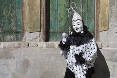 Carnival Masked Figure Royalty Free Stock Photography