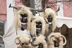 Carnival masks. Mask vendor at a carnival Royalty Free Stock Photos