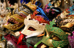 Carnival masks. Shop of carnival masks in Venice Royalty Free Stock Photography