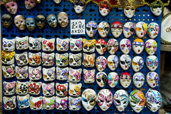 Carnival masks as souvenirs, Venice Royalty Free Stock Image