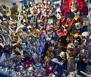 Carnival masks and attributes Stock Photos