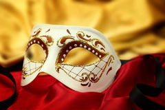 Carnival masks with black banner Royalty Free Stock Photos