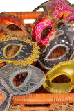 Carnival masks in box Royalty Free Stock Photo