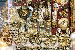 Carnival masks on display in Venice, Italy Stock Photo