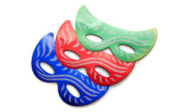 The carnival masks isolated on the white background Royalty Free Stock Image