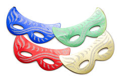 The carnival masks isolated on the white background Stock Photography
