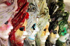 Carnival masks. Carnival or mardi gras costume masks in Venice
