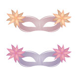 Carnival masks. A pair of carnival masks on a white background Stock Image