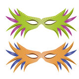 Carnival masks. A pair of carnival masks on a white background Stock Photography