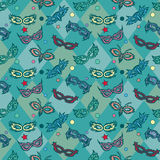 Carnival masks pattern Stock Photo