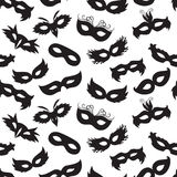Carnival masks pattern Stock Photography